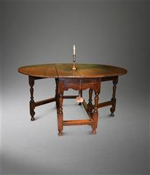 A William and Mary oak gateleg table.