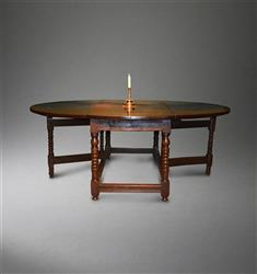 A stunning 17th century  ten seater gateleg table.