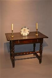 A William and Mary oak side table.