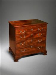 A mid 18th century mahogany chest of drawers.