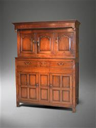 A mid 18th century oak deudarn.