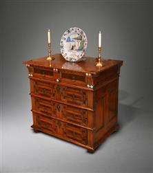 A small Charles II cedar chest of drawers.