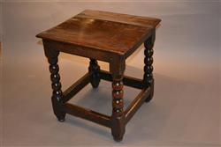 A mid 17th century oak child's table.