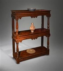 An exceptionally small James I oak buffet.