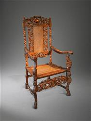 A superb William and Mary armchair.