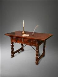 An 18th century spanish walnut writing table.