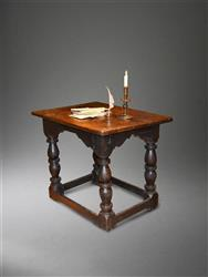 An early Elizabethan oak library table.
