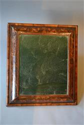 A fine William and Mary cushion frame mirror.