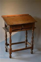 A very unusual late 17th century child's desk.