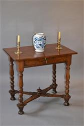 A very small Queen Anne yew wood side table.