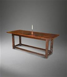 A 17th century Breconshire farmhouse table.