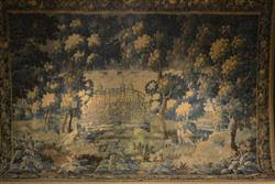 A large 17th century verdure tapestry.