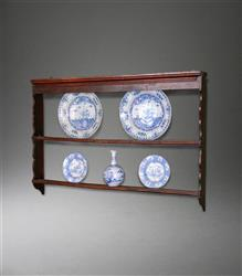 A small George III elm delft rack.