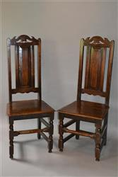 Two sets of four Welsh high back chairs.