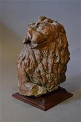 A large 16th century terracotta fragment of a lion