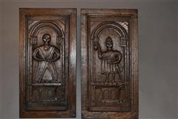 A very unusual pair of 16th century oak panels.