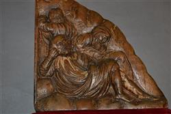 A limewood carved fragment of sleeping disciples.