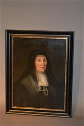 A portrait of Anne Sparrowe of Ipswich circa 1665.