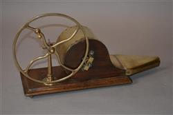 A  19th century wheel driven bellows.