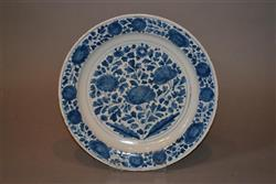 A large and unusual London delft charger.