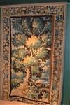 A 17th century Flemish verdure tapestry fragment.