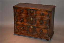 A late 17th/early18th century oak table cabinet.