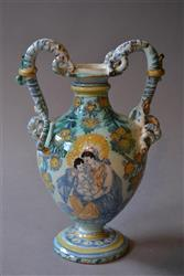 An early 18th century Italian two handled ewer.