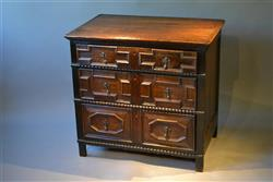 A small William and Mary pine chest of drawers.
