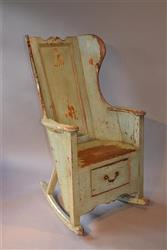 An early 19th century lambing chair.