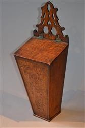A fine George III oak candlebox