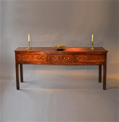 A lovely George III elm dresser base.