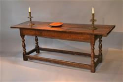 A late 17th century welsh oak refectory table.