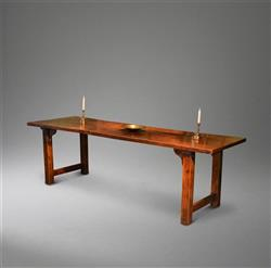 A stunning elm farmhouse refectory table.