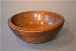 A large late 18th century sycamore dairy bowl.