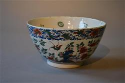 An early 18th century polychrome delft bowl.
