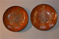 A pair of late 18th century slipware dishes.
