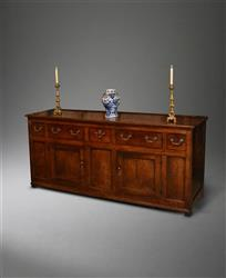 A George  III oak dresser base.