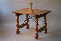 A 17th century Spanish walnut writing table.