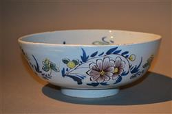 A small 18th century Liverpool delft bowl.