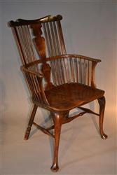 A Georgian Thames Valley Windsor armchair.