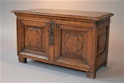 A charming 17th century walnut table coffret.